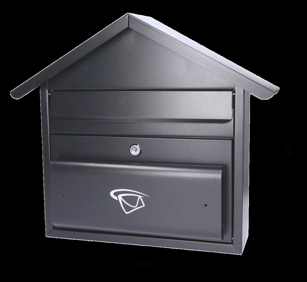 461fa0951 Schránka poštová 470x410x110mm, max. formát listu:C4, čierna matná